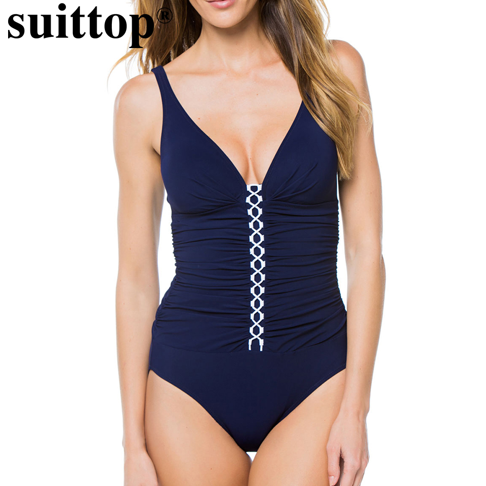suittop Cut Out One Piece Swimsuit Monokini Strap Cross Women Bikini Swimwear Bathing Suit Female Padded Backless Swimming Suit fashionable strappy printed cut out one piece swimsuit for women