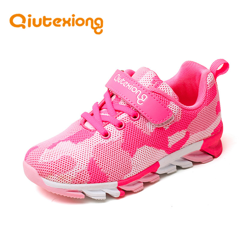 QIUTEXIONG Trainer Children Running Shoes Kids Sneaker Boys Casual Shoes For Girls Footwear Sport Breathable Fashion Mesh Shoes