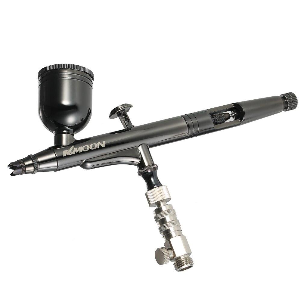 KKmoon Kit d'aérographe à double Action avec alimentation par gravité professionnelle 0.3mm 8cc pistolet à gâchette Art Craft peinture par pulvérisation modèle de passe-temps
