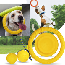 Fashion EVA Pet Chewing Toy Pull Ring Ball Bone Flying Discs for Cat and Dog Training Toys Supplies