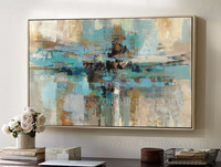 Hand Painted High Quality Single Picture Abstract Oil Painting On Canvas Green Modern Abstract Painting For