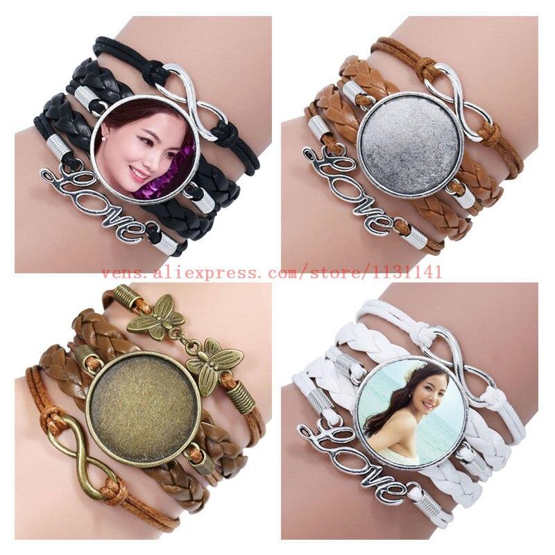 sublimation bracelets for diy gifts Multi storey women bracelet jewelry hot tranfer printing consumable 30pcs lot