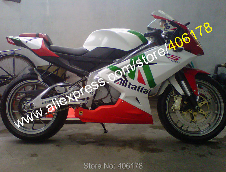 Hot Sales,For Aprilia Fairing 06-11 RS125 2006 2007 2008 2009 2010 2011 RS 125 Red White Green BodyKits (Injection molding)