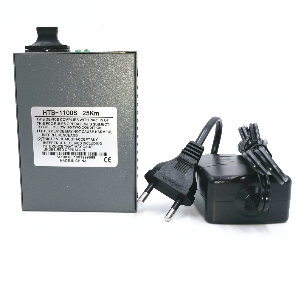 HTB-1100S Single-mode Dual-fiber Fiber Optic Transceivers Single-mode Transceiver Fiber Converter 25KM