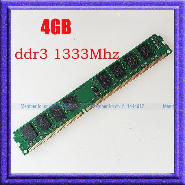 НОВЫЙ 4 ГБ PC3-10600 DDR3-1333 240-КОНТ DDR3 1333 МГЦ Настольных Памяти 4 г ddr3 1333 RAM desktop 240-pin DIMM памяти бесплатная доставка