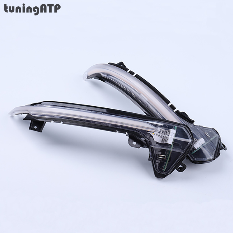 tuningATP Clear Wing Mirror Dynamic Sequential Turn Signal LED Lights For Audi A6 C7 S6 Sedan Avant