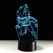 Dragon Ball 3D Table Lamp Cool Nightlights New Year Decoration Kids Lampade Children's Gifts Lighting LED Lampe Touch Lampen