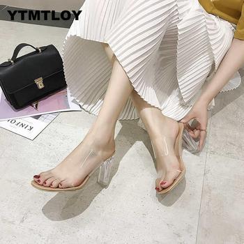 2019 HOT Clear Heels Slippers Women Sandals Summer Shoes Woman Transparent High Pumps Wedding Jelly Buty Damskie High Heels 1