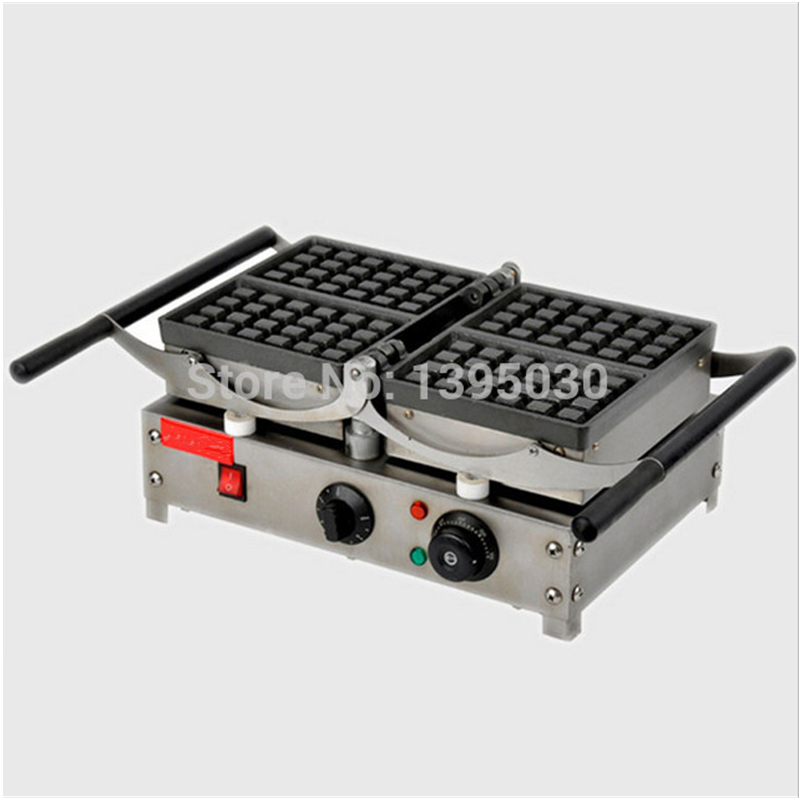 1PC FY-2201 Waffle Electric Heating Muffin Machine Cake Furnace Double Head Machine For Resaurant Kitchen 1pc popular waffle cookie maker cool touch exterior cake making machine with grilling press plates for restaurant fy 2201