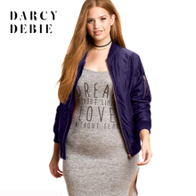 Darcydebie Plus Size New Fashion Women Clothing Casual Solid Zipper Jacket  Coat Long Sleeve Big Size f9054972e432