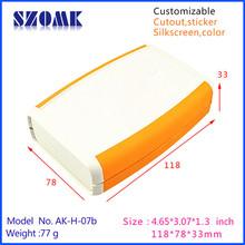 1 piece new fashion abs plastic enclosure in orange instrument housing for electronics 118*78*33mm