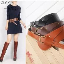 2016 Fashion Belts for Women PU Leather Vintage Waist oblique buckle wide strap cross body cummerbund belt Obi female