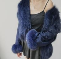 Plus Size Loose Comfortable Natural Fox Fur Jackets Vintage Double Wearing Style Real Fur Coats