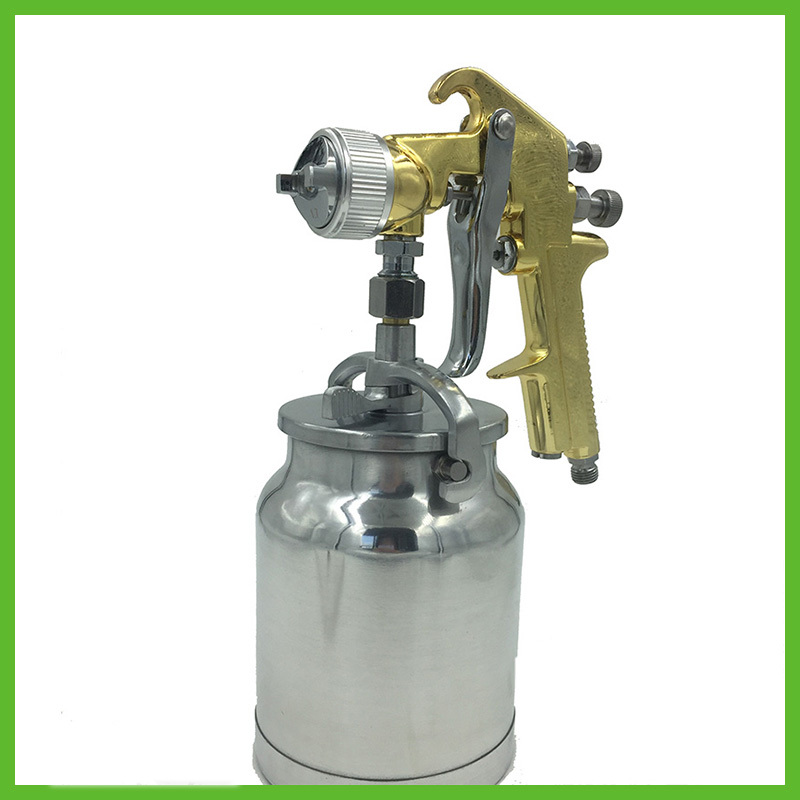 цена на SAT1065-B high pressure air paint spray gun prefessional gravity feeding dual action airbrush sprayer