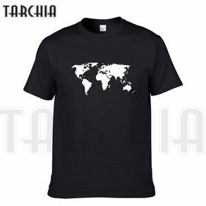TARCHIA 2018 Nieuwe Merk t-shirt wereldkaart grappige katoenen tops tee korte mouw jongen casual homme tshirt t plus mode
