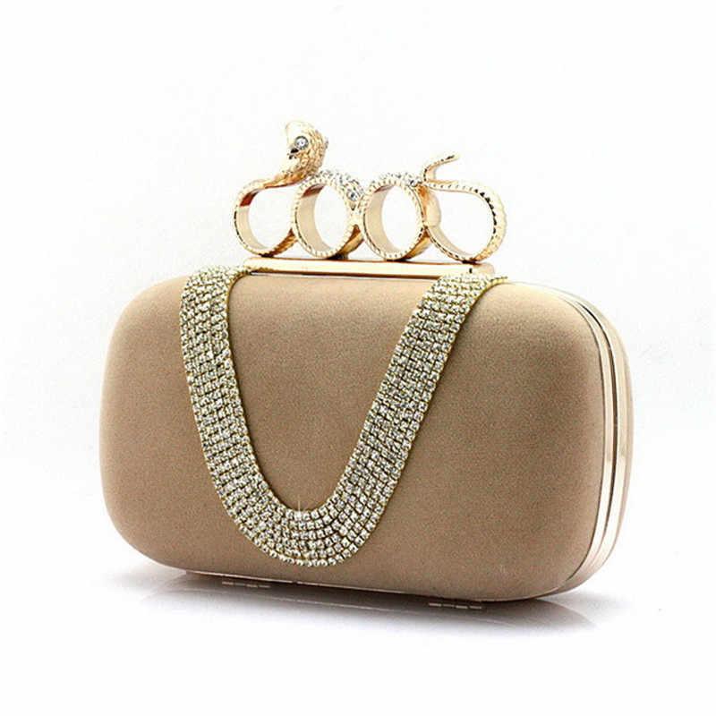 408c4792908a ... 2019 четыре кольца на пальцы женский клатч женские клатчи сумочка с  черепом бриллиантовые вечерние сумки с ...
