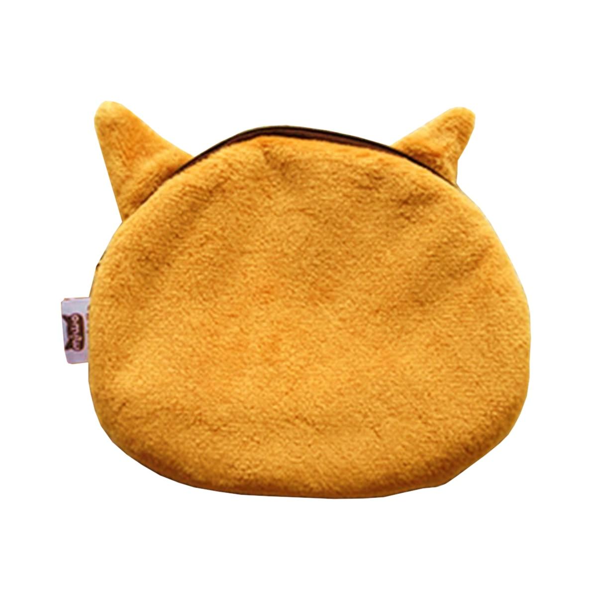 -Cute Lovely 3D Dog Face Zipper Case Coin Girl Purse Wallet Makeup Bag Pouch Dodge