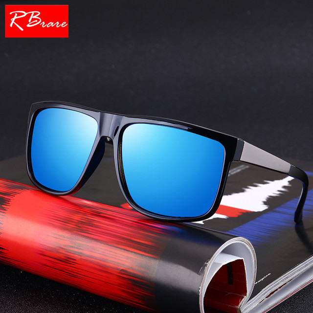 RBRARE Polaroid Men's Goggle Driving Sunglasses Men Classic Low Profile Sun Glasses For Men High Quality Outdoor Oculos Feminino