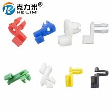 цена на White Nylon Door Round head Lock Rod Clip Side Fastener Clips (30pcs)