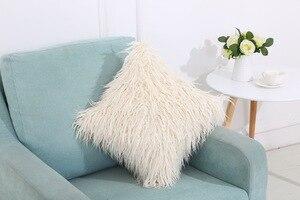 Image 5 - CAMMITEVER シミュレーション偽毛皮スエード高級クッションカバー卸売装飾的なスロー枕ソファ車の椅子オフィスホテル