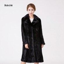 2016The new fashion lady warm mink fur coat longer suit brought fashion fur coat postal mail