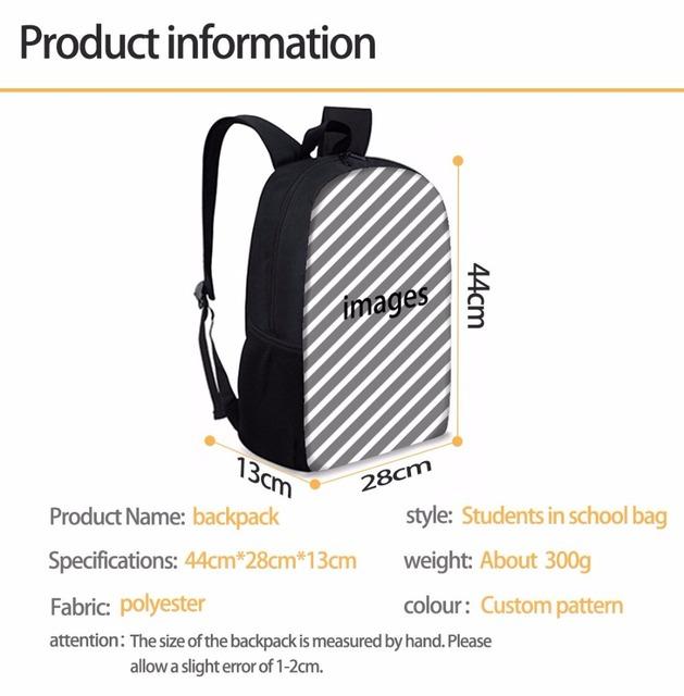 FORUDESIGNS Miraculous Ladybug Print School Bags Unicorn Backpack for Girls Boys Orthopedic Schoolbag Children Book Bag Satchels