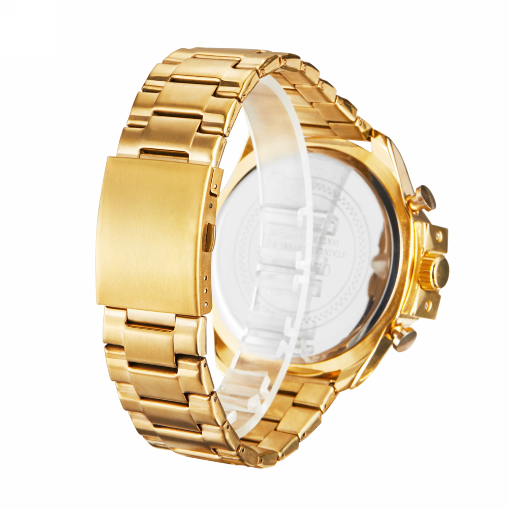 top luxury brand cagarny quartz watch for men gold steel band waterproof dz military Relogio Masculino mens watches drop shipping clock man cheap price (40)