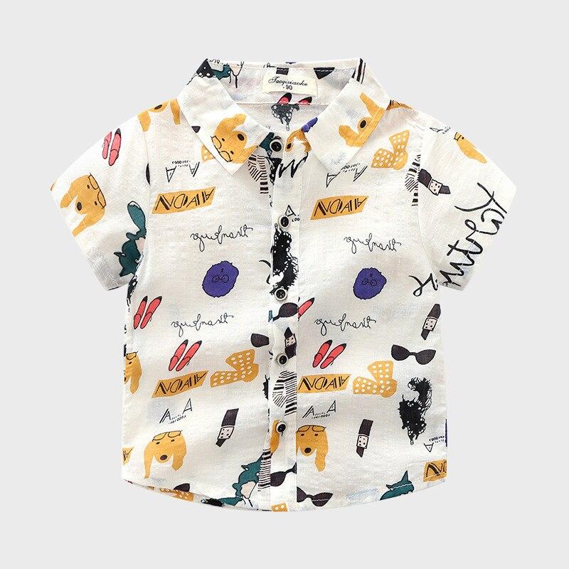 Jungen Kleidung Biniduckling Neue Ankunft Sommer Baby Jungen Kinder Tops Kleidung Gedruckt Graffiti Hemd Baumwolle Kurzarm Taste Kinder Kleidung Gut Verkaufen Auf Der Ganzen Welt Shirts