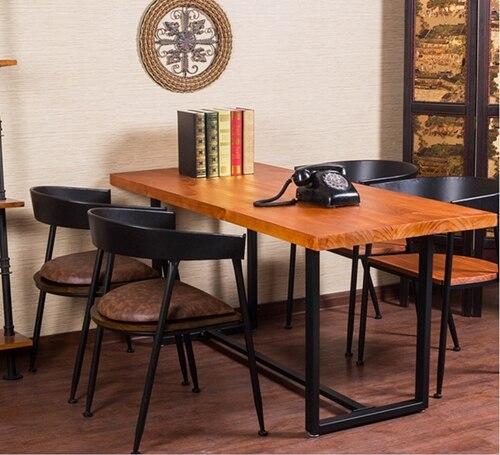 Smeedijzeren tafels en stoelen amerikaanse land houten eettafel en stoelen kit om de oude retro - Smeedijzeren stoel en houten ...