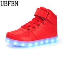 2016 Kids Shoes LED Boys Girls Shoes Fashion Lights USB Toddler Luminous Sneakers Children Comfortable Flats