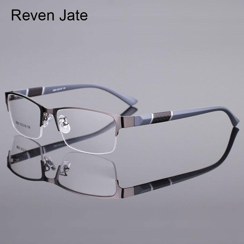 Reven Jate 8850 Halbrand Legierung Vorderen Rand Flexible Kunststoff TR-90 Tempel Beine Optische Brillen Rahmen für Männer und Frauen brillen