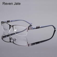 Reven Jate 8850 Half Rim Alloy Front Rim Flexible Plastic TR-90 Temple Legs Optical Eyeglasses Frame for Men and Women Eyewear(China)