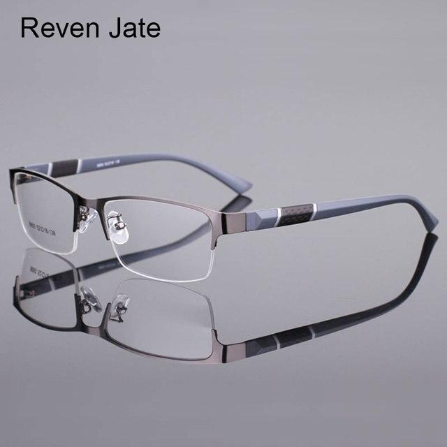 Reven Jate סגסוגת 8850 מחצית שפת שפה קדמית פלסטיק גמיש רגליים TR-90 מקדש מסגרת משקפיים אופטיים עבור גברים ונשים Eyewear