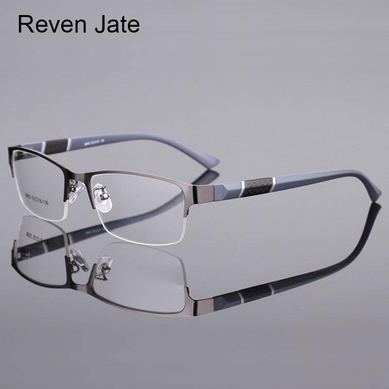 Reven jate media llanta 8850 llanta delantera de aleación de plástico flexible tr-90 templo piernas anteojos ópticos Marcos para hombres y mujeres gafas