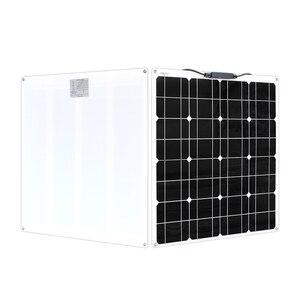 Image 3 - Panneau solaire Flexible 200w 100w 50w 12v chargeur solaire système à la maison pour voiture RV bateau caravane 1000w PV Module 540*530*3mm étanche