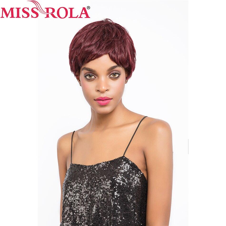 Miss Rola włosy Brazylijskie proste włosy Krótkie włosy ludzkie - Włosy ludzkie (na czarno) - Zdjęcie 5