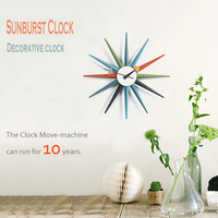 New modern fashion Watch wooden Quartz Needle Wall Clock with Horloge real big wall clock for shop home decoration free shipping
