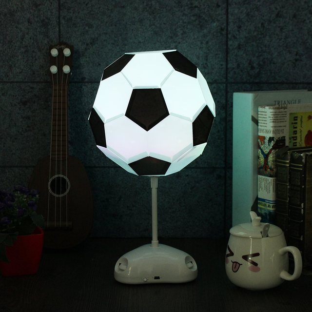 Battery powered colorful football lamp handmade night light desk battery powered colorful football lamp handmade night light desk lamp colorful bedside lamp mozeypictures Images