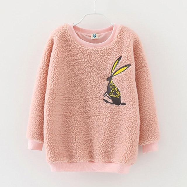 Корейские Девушки Пальто Розовый Длинные Пуловеры 2017 Осень и Зимой Дети Девушки Новая Мода Симпатичные Твердые Капюшоном Свитер Горячие Продажи