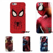 Für iPhone X 4 4 S 5 5 S 5C SE 6 6 S 7 8 Plus Galaxy Grand Core prime Alpha Marvel Avengers Spider man Kunst Schlank Zurück Silikon Fall(China)