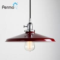 Permo 11 8 Modern Chrome Metal Lampshade Vintage Loft Pendant Lamp Retro Ceiling Hanging Cord Light