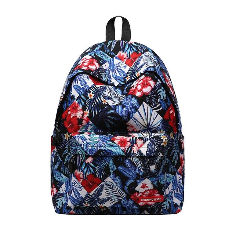 Модные с цветочным принтом рюкзак Колледж студент школьная сумка для подростков девочек школьный Mochila женственный женский рюкзак Для женщи...