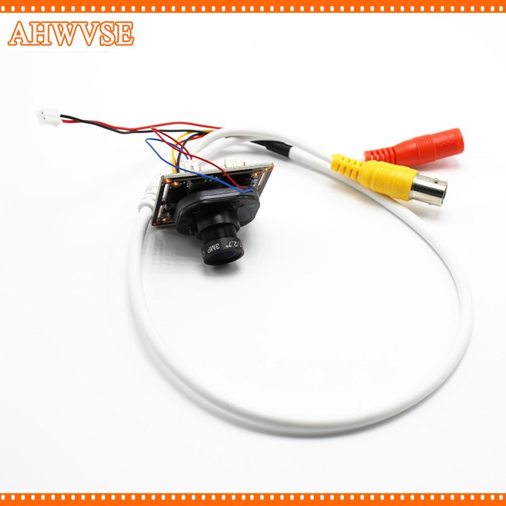 цена на AHWVSE HD 720P 2.8mm Lens AHD Camera Module Board 1080P M12 Lens IRC Focused NightVision CCTV Security IRCUT