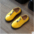 Spring  and  autumn   children's shoes  paint British wind boys color matching small leather shoes gir