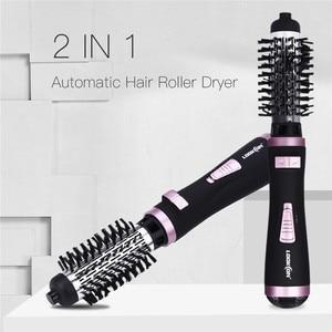 Image 3 - 2 в 1 Многофункциональный Электрический Фен  щетка роликовый вращающийся стайлер расческа выпрямление щипцы для завивки волос Инструменты для укладки волос
