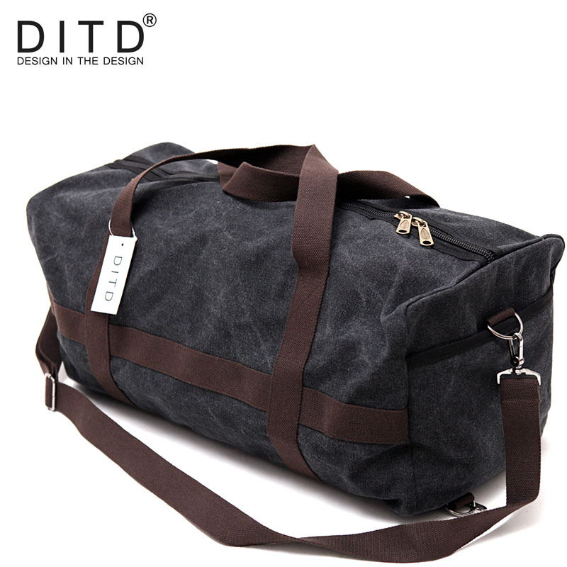 2019 Hot Vintage Fashion Large Capacity Men Canvas Brand Travel Bags Women Top Quality Travel Duffle Luggage Handbags DITD-099