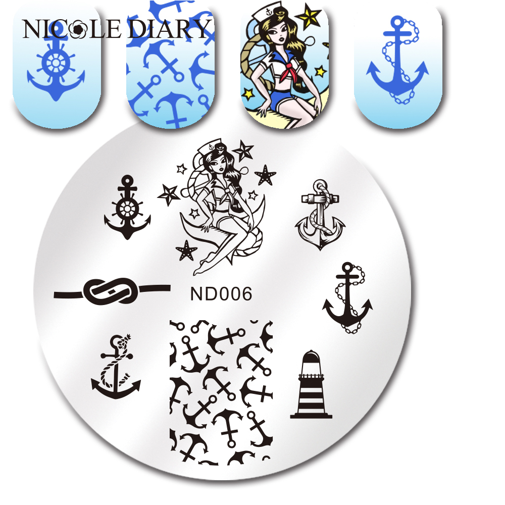 NICOLE DIARY-006 Nail Art Stamping Image Plates Stainless Steel High Quality DIY Meaning Patterns Stamping Template 26225