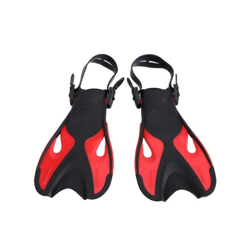 2019 New Adjustable Children Kids Super-soft Comfortable Snorkeling Swimming Fins Long Flippers Diving Training Equipment Q