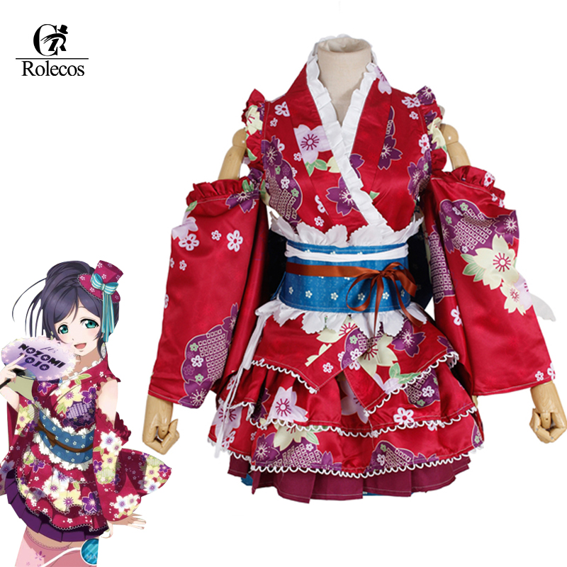 ROLECOS LoveLive Kimono Cospaly Tojo Nozomi Cosplay Costume Bathrobe love live Kotori Rin Nico Sonoda Umi Costume Eli Full Sets uwowo sonoda umi wig love live hair 80 cm long blue straight heat resistant wig lovelive umi hair