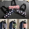 1 Bag Cotton Canvas Shoulder Bag Eco Shopping Tote with Lining Print CATs 929-d